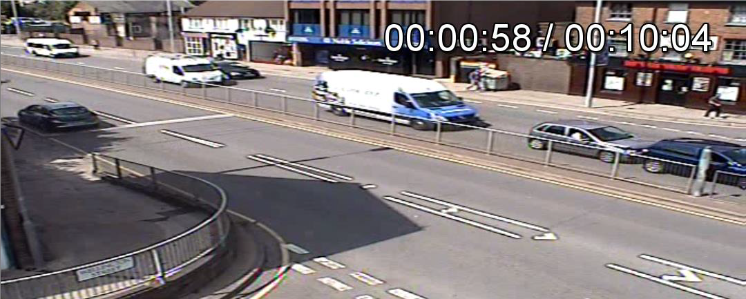 CCTV footage from cash crash claim