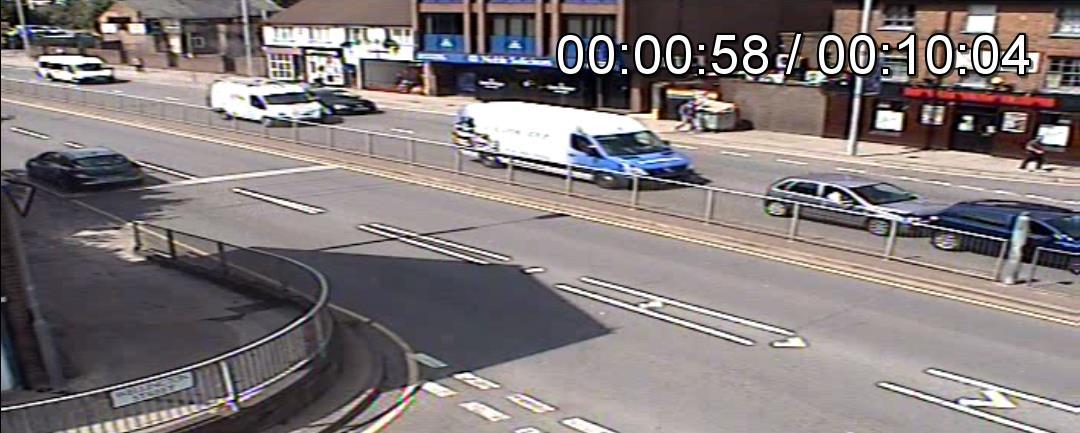 CCTV footage from cash crash claim